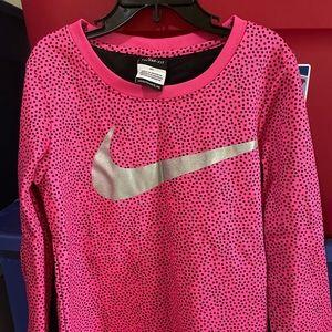 Nike Pink/Black Polka Dot Therma Fit Like New 6X